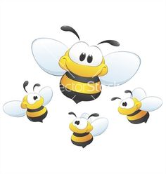 Cute cartoon bees vector 629345 - by mumut on VectorStock®