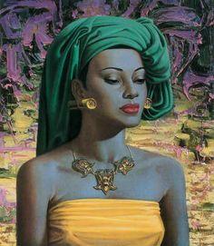 "hexenkreis: "" Balinese Girl by Vladimir Tretchikoff "" Yoruba, Henry Miller, South African Artists, Vintage Art Prints, Of Wallpaper, Kitsch, New Art, Photos, Retro Posters"