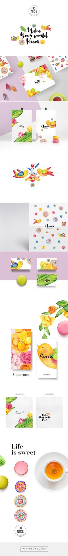 """Life is sweet"" macarons on Behance by Sonic Design curated by Packaging Diva…"