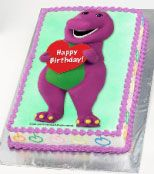 Barney Birthday Cake! Madylynn LOVES Barney!!