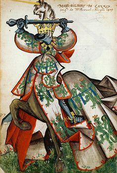 Gilbert de Lannoy, Grand Armorial équestre de la Toison d'Or, Flandres, 1430-1461.