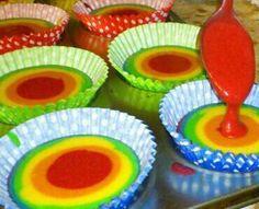 rainbow cupcakes @Alice Blount