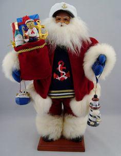 "Nautical Captain Santa- Santa Doll- 18"" Tall - pinned by pin4etsy.com"