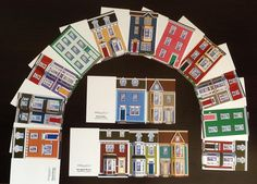 Jellybean Row Gift Tags, all 16 houses in the collection, blank inside, $6.95 for the set.