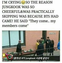 Even Jungkook didn't know if they're coming or not so he's happy when he found out they came