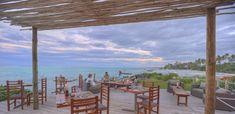 Outdoor dining with a view.  Zanzibar | Honeymoon | Travel