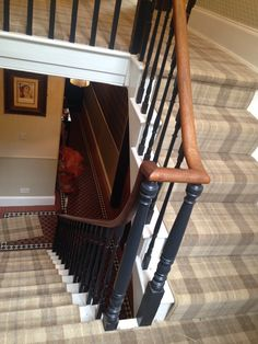 Hugh Mackay Tartan Pine fitted by Wakefield Carpet Specilaists – carpet stairs Tartan Stair Carpet, Carpet Staircase, Diy Carpet, Rugs On Carpet, Carpet Ideas, Modern Carpet, Mackay Tartan, Grey Carpet Hallway, Hallway Colours