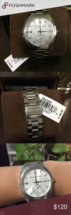 MK women's stainless steel callie watch Brand new with tag. Authentic Michael Kors Callie watch. MSRP $195. Comes with original box.Accept offer.❌trade/paypal❌ Michael Kors Accessories Watches