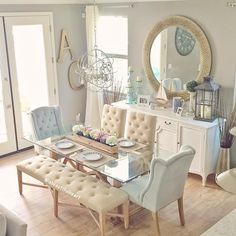 Dining Room Decorating Ideas with Images : Find the best dining room ideas, & designs to match your style. Browse through images of dining room decor for inspiration to create your perfect home. Dining Room Table Decor, Dining Room Sets, Dining Room Design, Dining Room Furniture, Dining Area, Living Room Decor, Kitchen Decor, Room Chairs, Room Kitchen