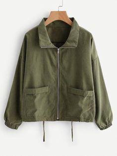 a53ad9ccd14e Zip Up Drawstring Jacket  Women scoats