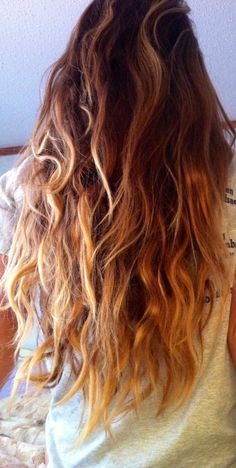 Light ombre beach waves... I wanna do this this summer