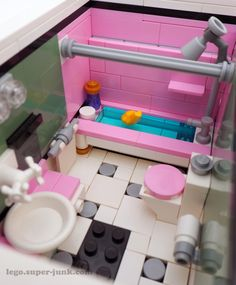 Pink Bathroom Tub & Shower