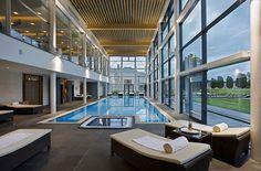 Swimming pool - Castlemartyr Resort - Irish Wedding Venue of the Month March 2017 - Co Cork Luxury Spa Hotels, Luxury Gym, Luxury Pools, Hotels And Resorts, Hotels Disney, Hilton Hotels, Marriott Hotels, Top Hotels, Luxury Travel