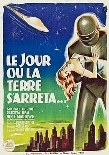 The French poster for The Day The Earth Stood Still.  Tres bien!