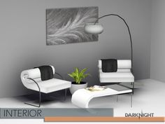 Theme is circle lines in this set.  Found in TSR Category 'Sims 3 Living Room Sets'