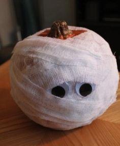 Ideas para Halloween - Calabazas Momia