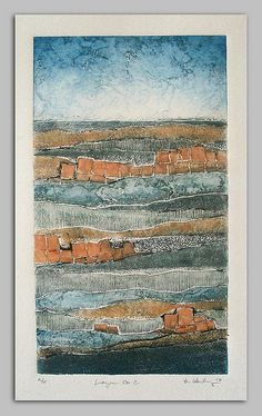 layers 2 collagraph landscape print by starkeyart, via Flickr