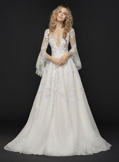 Hayley Paige can be found at LaineeMeg Bridal and the Nordstrom Wedding Suite/Downtown Seattle.