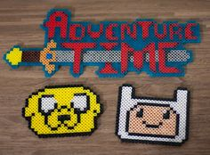 Adventure Time with Finn  Jake Perler Bead Sprite Art