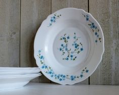 Arcopal Veronica Shallow Dish Serving Bowls - Set Of 6 - French Kitchen Vintage by OhlalaCamille on Gourmly