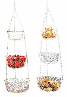 Hanging 3 Tier Fruit And Vegetable Basket