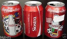 LOT 3 COCA COLA Coke Can Empty Container EURO 2012 Soccer Football Championship