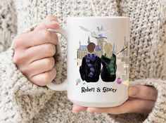 Personalised Name Mugs, Personalized Graduation Gifts, Graduation Gifts For Her, Sister Gifts, Best Friend Gifts, Sisters Coffee, Couple Mugs, Chocolate Frog