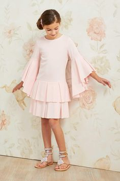 """""""Shop Chasing Fireflies for our Girls Pastel Pleats Dress. Browse our online catalog for the best in unique children's costumes, clothing and more. Baby Dress, Pink Dress, Pretty Outfits, Cute Outfits, Dress Anak, Fashion Catalogue, Cute Little Girls, Kids Outfits, Kids Fashion"""
