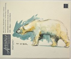Polar Bear Painting Watercolor 7x10 by BohemianHabits on Etsy, $25.00