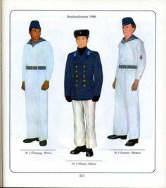 1986 East German Navy (Volksmarine) enlisted sailors' everyday uniforms.
