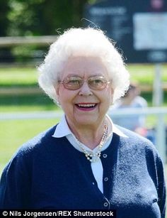 The Queen appeared in a jovial mood as  she met with spectators at the show...