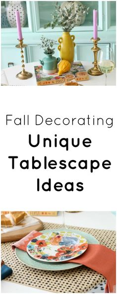 fall table setting ideas | fall tablescape | how to decorate for fall | fall decor | fall decorating | unique table setting ideas | fall ideas