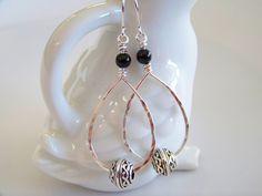 Celtic Beads on Silver Hoop Earrings - Item E2098 by Joannsfortheluvofit on Etsy