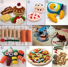 Felt kid's toys.  I love the pancakes!