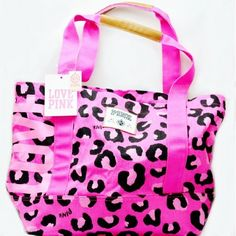 Pink By Victoria's Secret Love Pink Tote Carry All Bag: Clothing