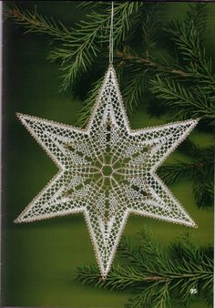 (98) Одноклассники Snowflake Ornaments, Snowflakes, Christmas Ornaments, Winter Christmas, Xmas, Bobbin Lace Patterns, Lacemaking, Star Patterns, Crochet Accessories