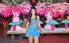 Ana Paula Oliveira arrasou ao apostar em uma decoração azul e rosa