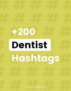 Looking for the best Instagram hashtags for dentist and dental care? The hashtags inside Preview are organized into hashtag groups. In each hashtag group, you will have core hashtags and community hashtags that popular dentists use. There is a mix of big, medium, community and small hashtags to give you the best reach possible. #instagramtips #instagramstrategy #instagrammarketing #socialmedia #socialmediatips Best Instagram Hashtags, Instagram Marketing Tips, Instagram Tips, Latest Instagram, Social Media Tips, Social Media Marketing, Dental Kids, Dental Care