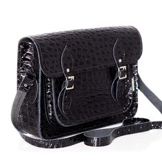 9d0bc69874a0 Reptile Black Vintage Bags, Leather Satchel, Reptiles, Leather Pouch,  Leather Briefcase,