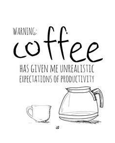 LostBumblebee 2013 - WARNING COFFEE- Free Printable