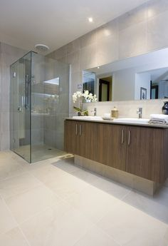 What do you think of this bathrooms tile idea i got from beaumont tiles? Modern Bathroom Tile, Contemporary Bathroom Designs, Contemporary Baths, Bathroom Spa, Bathroom Toilets, Bathroom Design Small, Bathroom Renos, Basement Bathroom, Bathroom Renovations