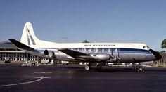 Air Rhodesia Viscount c/n 297 VP-WAS in November 1977