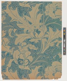 Flowing stylized flowers, berries and foliage. Wallpaper Samples, Of Wallpaper, Textile Prints, Textile Patterns, Historic New England, Boarders, Inspiration Wall, Stencils, Tapestry
