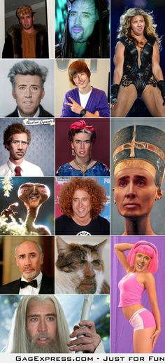 Nicolas Cage as everyone #MyEyes#TheBeauty