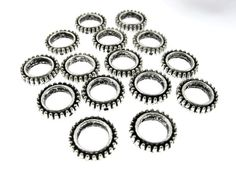 30 pcs 13mm Oxidized Silver Round Loops 2 by FancyGemsandFindings, $4.95 Oxidized Silver, Silver Rounds, Unique Jewelry, Rings, Handmade, Etsy, Vintage, Hand Made, Ring