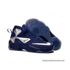 02f137337f10 Nike LeBron 13 Blue Silver Kids Shoes Basketball Shoes Online