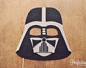 Darth Vader Helmet Photo Prop on a Stick // Star Wars Theme Prop // Stiff Felt Prop