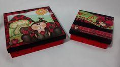 Kit de caixas joaninha.