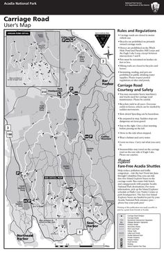 Acadia Carriage Roads map