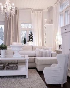 All White Living Room Decor . 35 Beautiful All White Living Room Decor . Decorating All White Rooms Ideas & Inspiration Home Living Room, Interior, Home, Beige And White Living Room, House Interior, Feminine Living Room, White Rooms, Interior Design, Home And Living